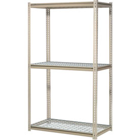 "High Capacity Add-On Rack 48""W x 48""D x 84""H With 3 Levels Wire Deck 1500 Lb Cap Per Level"