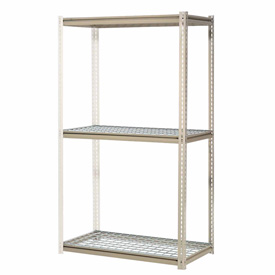 "High Capacity Add-On Rack 72""W x 48""D x 84""H With 3 Levels Wire Deck 1000 Lb Cap Per Level"