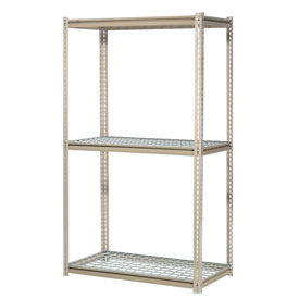 "High Capacity Starter Rack 60""W x 24""D x 96""H With 3 Levels Wire Deck 1300lb Cap Per Shelf"