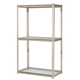 "High Capacity Starter Rack 96""W x 48""D x 96""H With 3 Levels Wire Deck 800lb Cap Per Shelf"