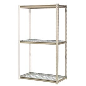 "High Capacity Add-On Rack 48""W x 24""D x 96""H With 3 Levels Wire Deck 1500 Lb Cap Per Level"