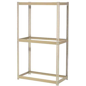 "Expandable Starter Rack 48""W x 24""D x 84""H Tan With 3 Levels No Deck 1500 Lb Cap Per Shelf"