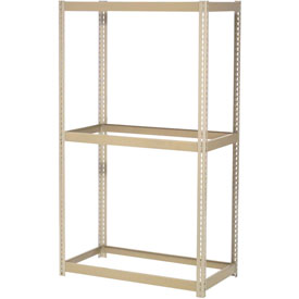 "Expendable Starter Rack 60""W x 36""D x 84""H Tan With 3 Levels No Deck 1000 Lb Cap Per Shelf"