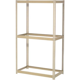 "Expandable Starter Rack 96""W x 48""D x 84""H Tan With 3 Levels No Deck 800 Lb Cap Per Level"