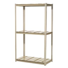 "High Capacity Starter Rack 48""W x 36""D x 96""H With 3 Level Steel Deck 1500lb Cap Per Shelf"