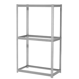 "Expandable Starter Rack 36""W x 12""D x 84""H Gray With 3 Levels No Deck 1500lb Cap Per Level"