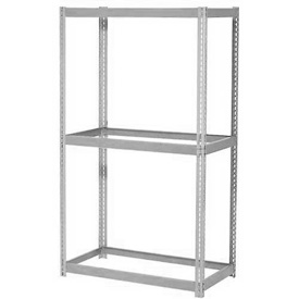 "Expandable Starter Rack 60""W x 36""D x 84""H Gray With 3 Levels No Deck 1000lb Cap Per Level"