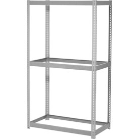 "Expandable Starter Rack 60""W x 48""D x 84""H Gray With 3 Levels No Deck 1000lb Cap Per Level"