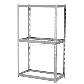 "Expandable Starter Rack 96""W x 48""D x 84""H Gray With 3 Levels No Deck 800 Lb Cap Per Level"