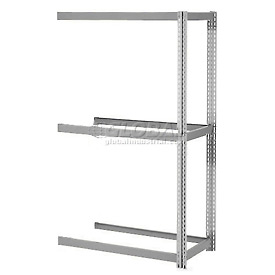 "Expandable Add-On Rack 60""W x 48""D x 84""H Gray With 3 Levels No Deck 1000 Lb Cap Per Level"