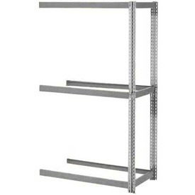 """Expandable Add-On Rack 96""""W x 24""""D x 84""""H Gray With 3 Levels No Deck 1100 Lb Cap Per Level"""