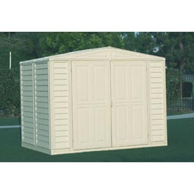 "DuraMate Vinyl Outdoor Storage Shed 00181, 7'10""W X 5'3""D X 6'1""H by"