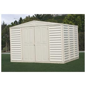"WoodBridge Vinyl Outdoor Storage Shed 00281, 10'5""W X 7'10""D X 7'1""H"