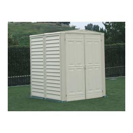 "YardMate Vinyl Outdoor Storage Shed 00782, 5'3""W X 5'3""D X 6'6""H Includes Vinyl Floor"