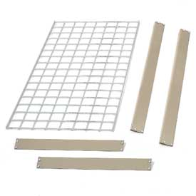 "Bulk Rack Shelf Wire Deck 72""W x 48""D Tan"
