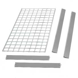 "Bulk Rack Shelf Wire Deck 96""W x 24""D Gray"