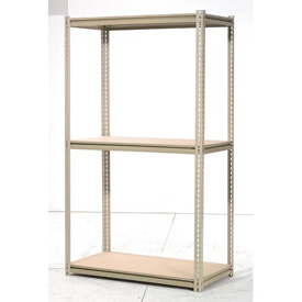 "High Capacity Starter Rack 60""W x 24""D x 84""H With 3 Levels Wood Deck 1300lb Cap Per Shelf"