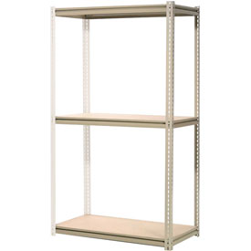 """High Capacity Add-On Rack 60""""W x 24""""D x 84""""H With 3 Levels Wood Deck 1300 Lb Cap Per Level"""
