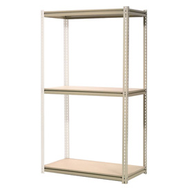 """High Capacity Add-On Rack 60""""W x 48""""D x 84""""H With 3 Levels Wood Deck 1300 Lb Cap Per Level"""