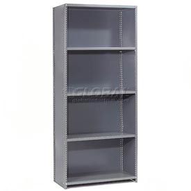 "Steel Shelving 18 Ga 48""Wx12""Dx85""H Closed Clip Style 5 Shelf Starter"