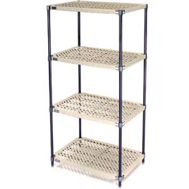 Vented Plastic Shelving 54x18x74 Nexelon Finish