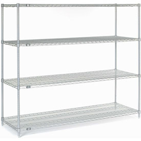 "Nexel Stainless Steel Wire Shelving 54""W X 18""D X 63""H"