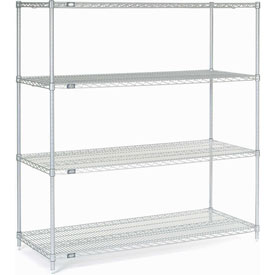 "Nexel Stainless Steel Wire Shelving 60""W X 24""D X 63""H"