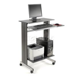 Mobile Computer Workstation Charcoal Silver