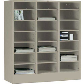Tennsco Literature Organizer Cabinet 5075 214 - 21 Openning Legal Size - Sand