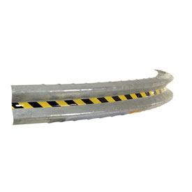 Bolt-On Curved Galvanized Guard Rail 10 Ft X 75 1/2 Inch Radius