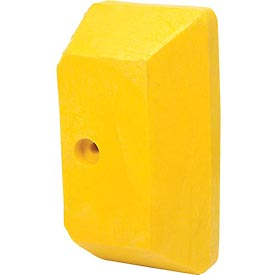 Plastic Yellow End Cap For Guard Rail
