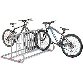 Grid Bike Rack, 10-Bike, Double Sided, Powder Coated Galvanized Steel