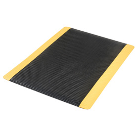 Supreme Sliptech Mat 11/16 Inch Thick 36x60 Black W/Yellow Border