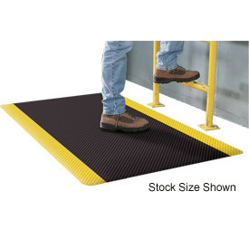 Supreme Sliptech Mat 11/16 Thick 3ft Wide Full 60ft  Roll Black W/Yellow Border