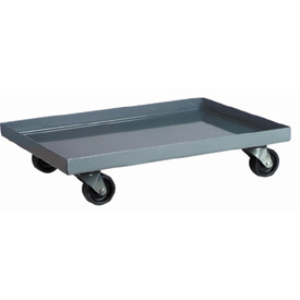 "Akro-Mils Steel Dolly RU843HR1624 For 23-3/4 X 15-3/4 Containers - 24-3/8""L x 16-3/8""W x 5-1/8""H"