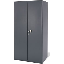 Electronic Locking Storage Cabinet 36x24x72 Charcoal