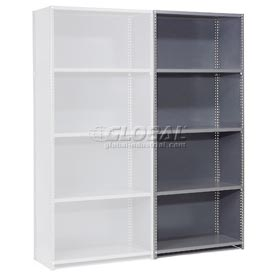 "Steel Shelving 18 Ga 36""Wx24""Dx73""H Closed Clip Style 5 Shelf Add-On"
