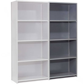 "Steel Shelving 18 Ga  48""Wx12""Dx73""H Closed Clip Style 5 Shelf Add-On"