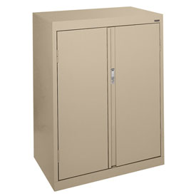 Sandusky System Series Counter Height Storage Cabinet HF2F301842 - 30x18x42, Sand