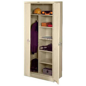 Tennsco Industrial Combination Storage Cabinet 7820 216 - 36x24x78 Champagne Putty