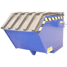Plastic Lid PLID-H-50 for Vestil 1/2 Cubic Yard Low-Profile Self-Dumping Hopper & Triple-Bin Hopper