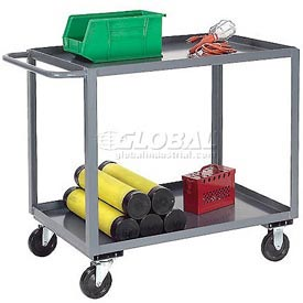Jamco Gray All Welded 3 Shelf Stock Cart SC248 48x24 1200 Lb. Capacity