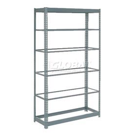 "Heavy Duty Shelving 48""W x 24""D x 84""H With 6 Shelves, No Deck"