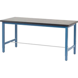 "72""W x 36""D Lab Bench - Phenolic Resin Safety Edge - Blue"
