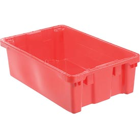 "LEWISBins SN2012-6 Polyethylene Container 20""L x 13""W x 6-1/4""H, Red - Pkg Qty 5"
