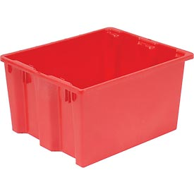 "LEWISBins SN2420-13 Polyethylene Container 24""L x 20""W x 13""H, Red - Pkg Qty 5"