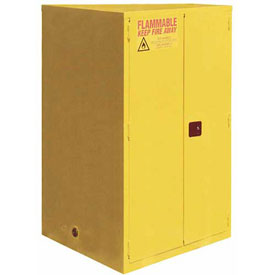 "Global&#8482 Flammable Cabinet - 60 Gallon - Self Close Double Door - 34""W x 34""D x 65""H"