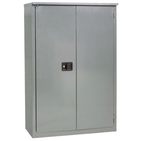 """Jamco Fire Resistant Cabinet BX29-GP, All Welded 43""""W x 18""""D x 65""""D Gray"""