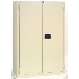 "Jamco Fire Resistant Cabinet BR75-AP, All Welded 59""W x 34""D x 65""H Putty"
