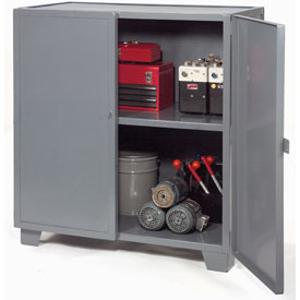 "Jamco Extra Heavy Duty Storage Cabinet MH472-GP - Welded 12 Gauge 72""W x 36""D x 54""H Gray"